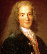Voltaire at 24, by Nicolas de Largillière.