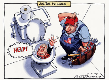 Peter Brookes - The  Times - October 17,2008