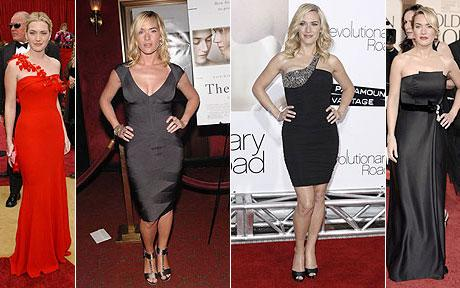 the queen of the cleavage Hilary Alexander ponders Kate Winslet's choice of clothing for the forthcoming Baftas this weekend.