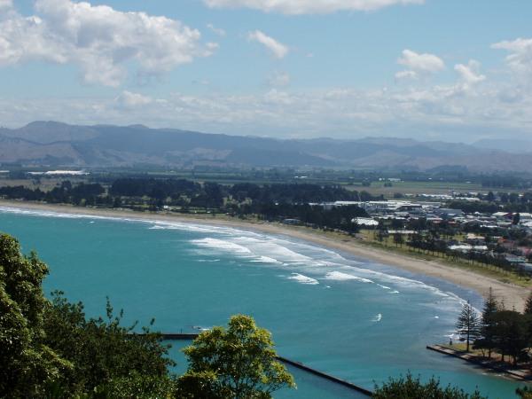 Gisborne beaches from Kaiti Hill
