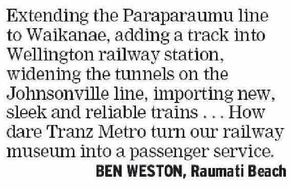 Letters to the Editor - Dominion Post - 9 September